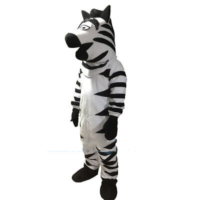 XMAS Zebra Mascot Costume Horse Cartoon Animal Party Cosplay Dress Adult Outfit (Christmas Horse Costumes)