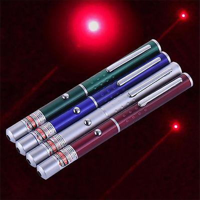NEW Portable Red Lighting 650nm Visible Singal Beam Metal Pointer HOT