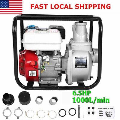 3 In 6.5hp Gas Water Semi Trash Pump Petrol High Pressure Garden Irrigation