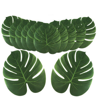 120×Large Artificial Tropical Palm Leaves Hawaiian Luau Party DIY Table Runner ](Hawaiian Table Runner)