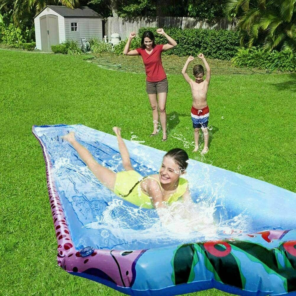 20ft water slip and slide with sprinkler system