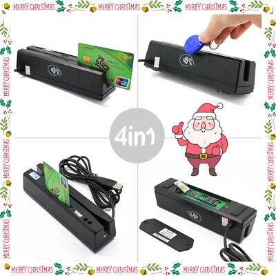 4-in-1 Magnetic Stripe Credit Card Emv Ic Chip Rfid Psam Reader Writer 2020 New
