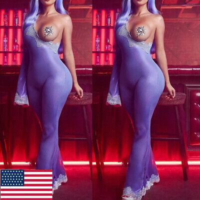 Bodysuit Costumes For Women (Halloween Adult Women Ladies Suit Cosplay Slant Shoulder Bodysuit Party)