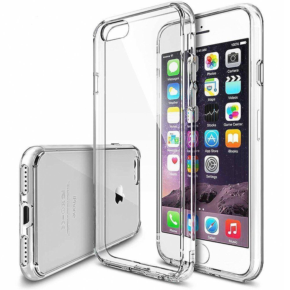 For iPhone 8 7 6 Plus Clear Case Cover Shockproof Protective TPU Bumper