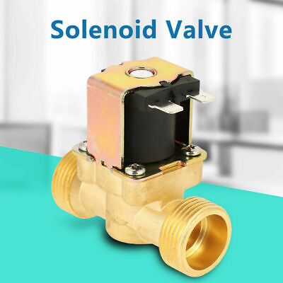 1pc Dc12v G34 Normal Closed Brass Electric Nc Solenoid Magnetic Valve For Water