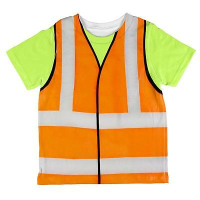 Halloween Road Worker Construction Vest Costume All Over Toddler T Shirt