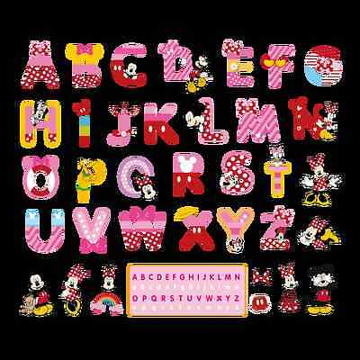 Mickey Mouse Room Decor (Minnie Mickey Mouse A-Z ALPHABET Wall Sticker Vinyl Decals Kids Baby Room)