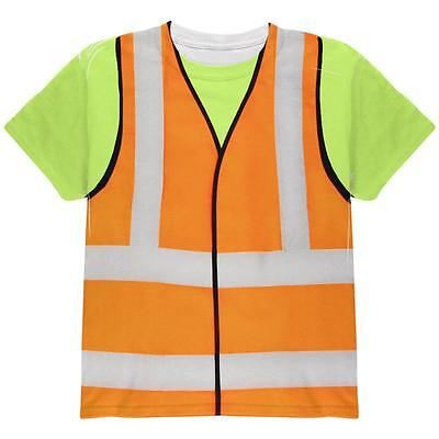 Halloween Road Worker Construction Vest Costume All Over Youth T Shirt - Road Worker Halloween Costumes
