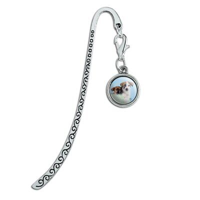 Jack Russell Terrier Puppies Dogs Gift Box Metal Bookmark Page Marker with Charm for sale  Shipping to Canada