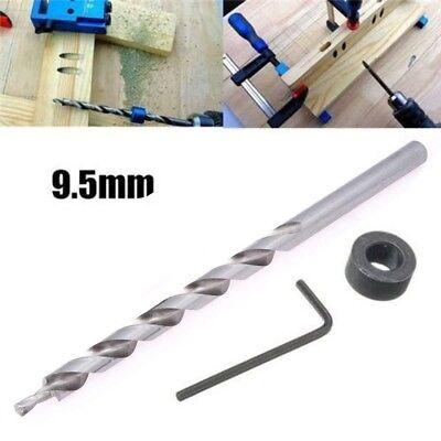 3/8inch(9.5mm) Twist Step Drill Bit Set for Kreg Pocket Hole Drill Jig Guide ()