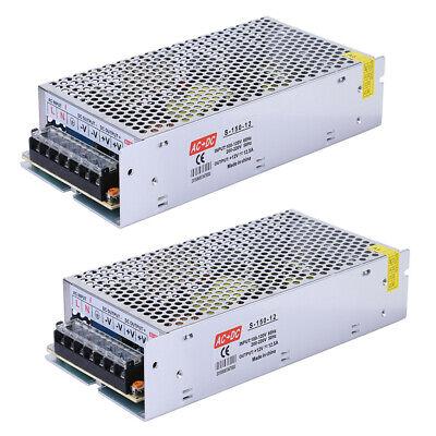 2 Pack Ac 110v 220v To Dc 12v 12.5a Switch Power Supply Driver Adapter Led Light