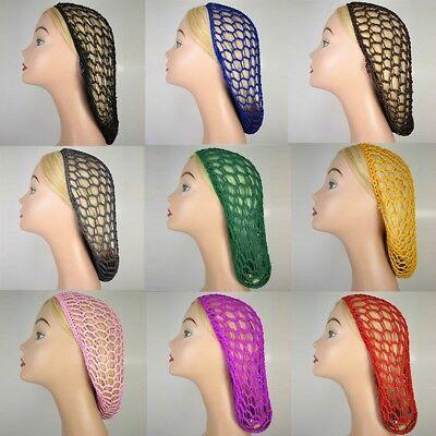 - Women Fashion Soft Rayon Snood Crochet Hair Net Knit Hat Hairnet Hairband Black