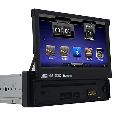 Single 1 Din Autoradio In Dash GPS Navigation Touch Screen DVD Radio MP3 Player (Dvd-player In Dash)
