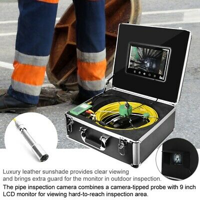 9lcd 1000 Tvl 22mm Drain Pipe Sewer Inspection Video Camera System 30m Cable