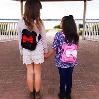 Mouse PU Leather Mini Bag Girls School Backpack Cartoon Shoulder Bags
