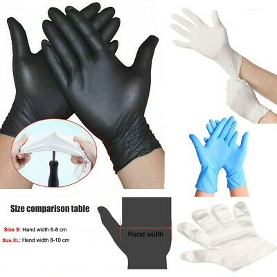 50100 Pe Pvc Nitrile Blue Rubber Cleaning Gloves Powder Free Non Vinyl Latex
