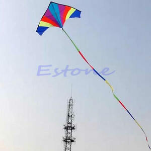Kite-Accessory-Kids-Gift-10M-Super-Nylon-Stunt-Rainbow-Kite-Tail-Line