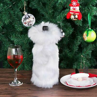 White Wine Bottle Bag Bottle Cover Faux Fur Winter Gift US White Wine Bottle