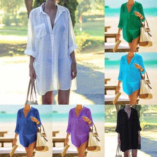 Women Beach Swimsuit Cover up Swimwear Cover up Beachwear Dr