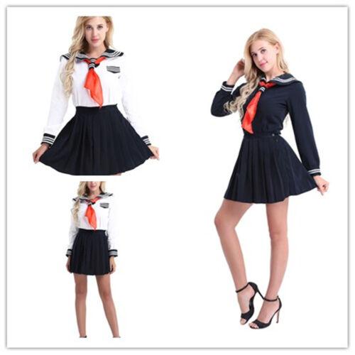 Sexy Faux Leather Hell Girl Jk School Uniform Dress Japan -5147
