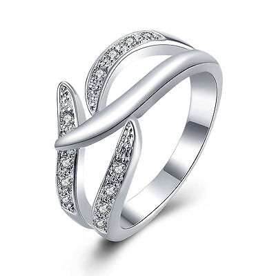 925 sterling Silver Ring Fashion Jewelry women crystal Wedding lady Cute hot new 925 Sterling Silver Crystal Ring