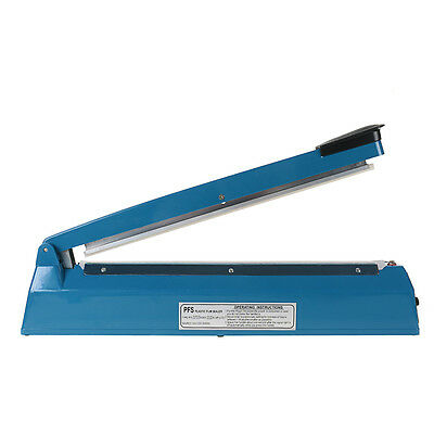 16 400mm Manual Impulse Heat Sealer Poly Bag Machine Shrink Wrap Free Element