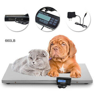 Veterinary Floor Scale 660lb X 0.22lb Lcd Plastic Platform Scale Weighing