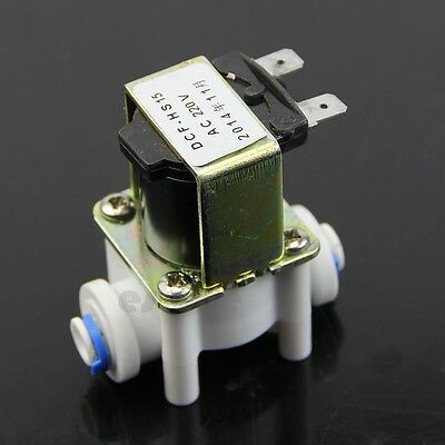 Electric Plastic Solenoid Valve For Water Purifier Air Inlet Pipeline Ac 220v