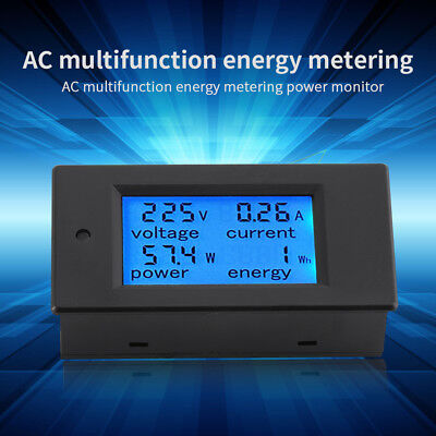 UK Plug Power Meter Electricity Usage Monitor with Digital LCD Display Volt Amps Watt Analyzer 2Pack