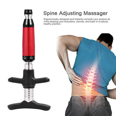 Spine Correct Gun Chiropractic Adjustment Set Pulse Activating Therapy Corrector