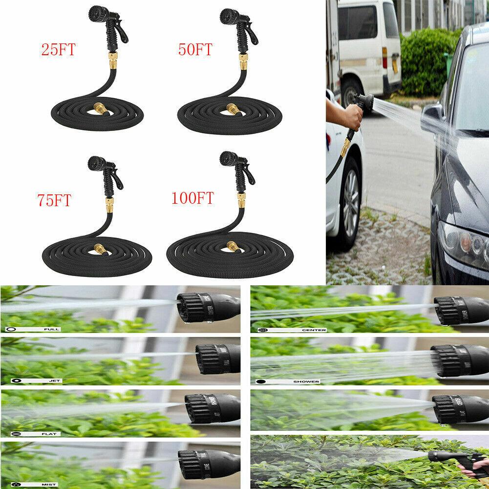 25 50 75 100FT Expandable Magic Flexible Garden Watering Gun