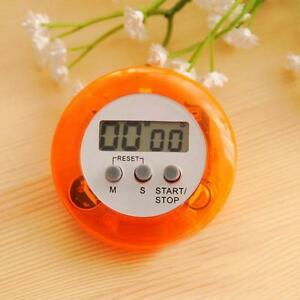 Digital LCD Timer Stop Watch Kitchen Cooking Countdown Egg Clock Down Orange FD