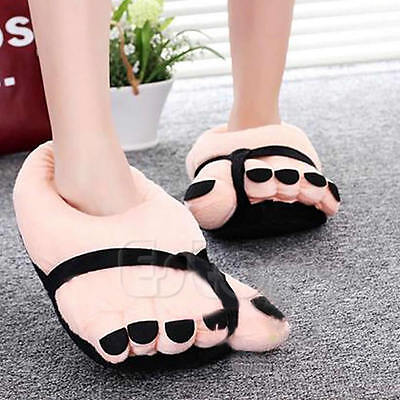 HOT Funny Cute Winter Soft Velvet Cartoon Warm Toe Big Feet Home Floor - Funny Toe Shoes