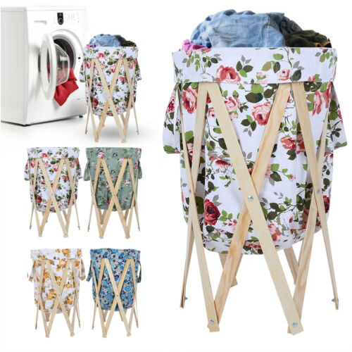 Collapsible Basket Laundry Hamper Wash Clothes Dirty Sorter
