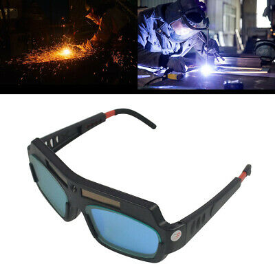 Pro Solar Powered Auto Darkening Welding Glasses Mask Helmet Eyes Goggle PC Lens