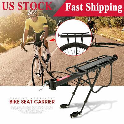 Bicycle Aluminum Mountain Bike Rear Rack Seat Post Mount Pannier Luggage