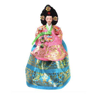 "Korean Traditional Handicraft Dolls Court Dress 15"" Collectible Figure Gift"