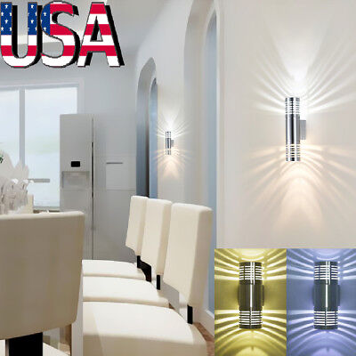LED Wall Light Up Down Cube Indoor Outdoor Sconce Lighting Lamp Fixture Decor - Led Cube Lights Decorations