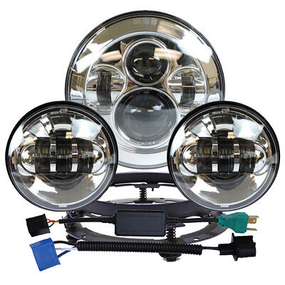 7  Led Projector Daymaker Headlight Pair 4 5  Passing Lights For Harley Touring