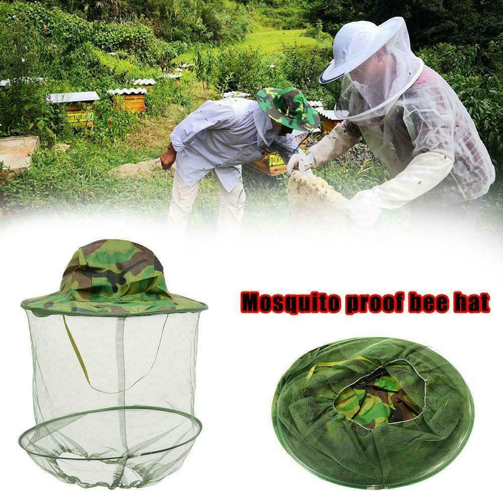 Beekeeping Beekeeper Cowboy Hat Mosquito Bee Insect Net Veil Face Protector X8S4