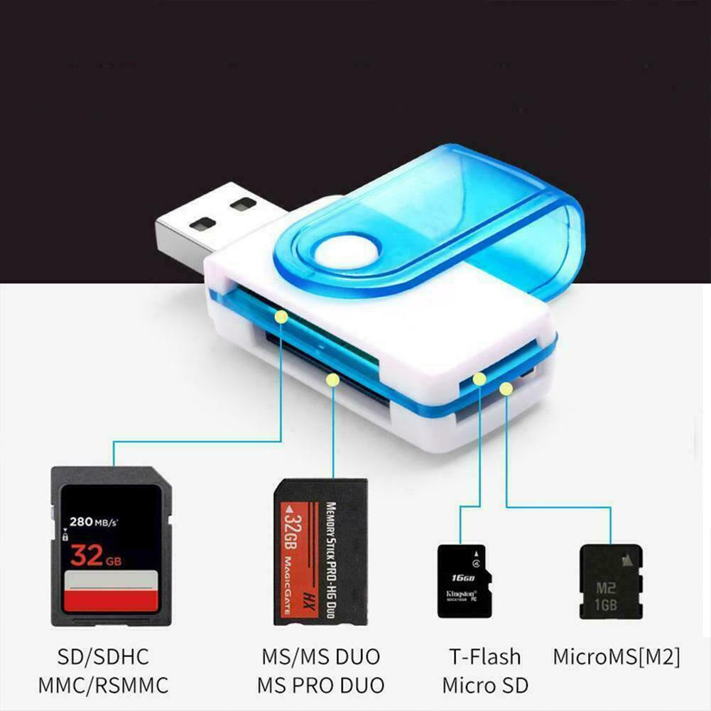 128GB All In One Micro SD to USB Multi-Card Memory Card Adapter Reader Supports