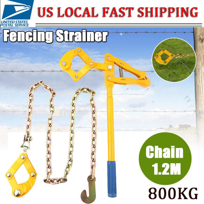"Chain Strainer Barn Farm Fence Stretcher Tensioner Repair Barbed Wire 47.25"" USA"