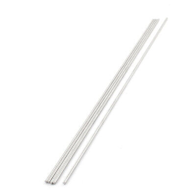 350mm Long 3mm Dia Stainless Steel Round Bar Stick Rod Silver Tone X 5 T8d1