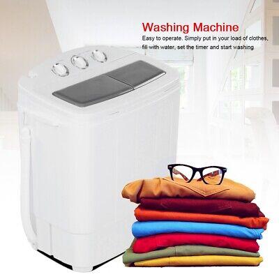 2in1 Waschtrockner Weiß Mini Waschautomat Wäschetrockner mit Schleuder Timer