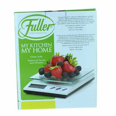 Fuller Brush Tempered Glass Kitchen Scale