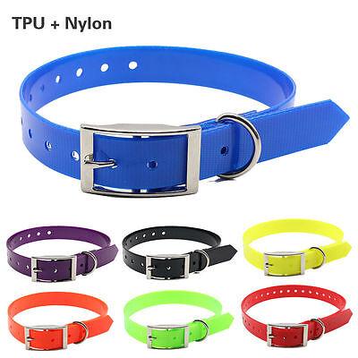 TPU+Nylon Pet Dog Collar Adjust Waterproof Necklace Collar F