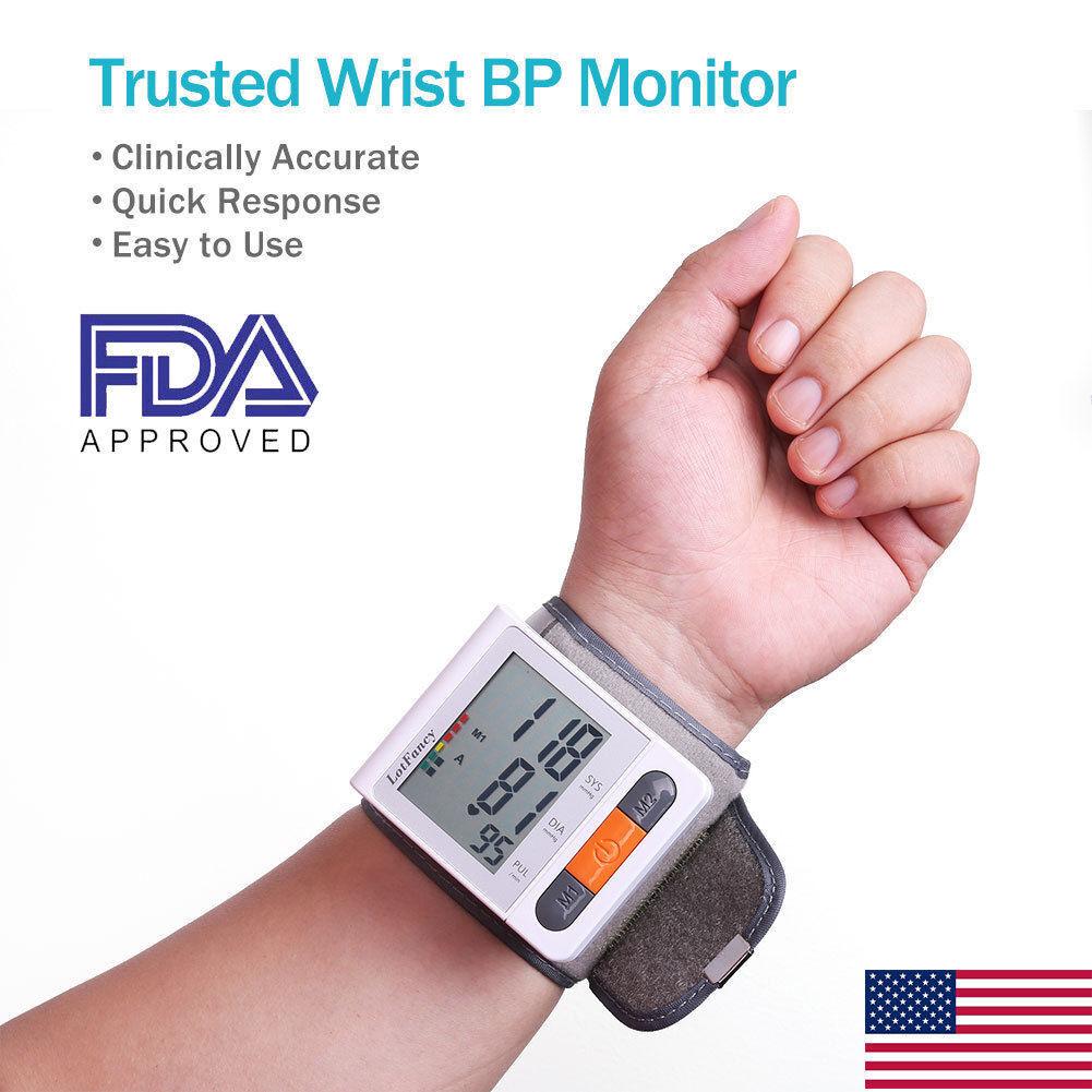 Automatic Wrist High Blood Pressure Monitor BP Cuff Machine