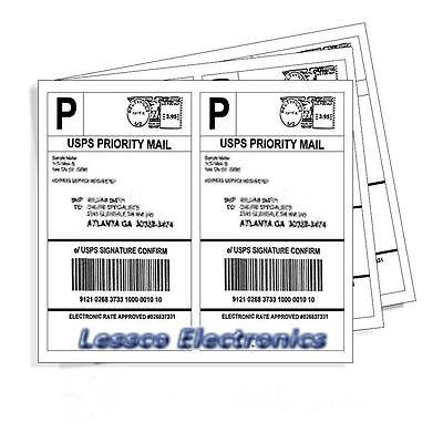 1000 Ps Self Adhesive Shipping Labels 500x2 Per Sheet 8.5 X 5.5 Ebay Ups Usps