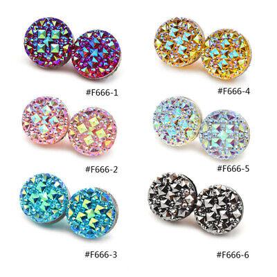 1 Pair Crystal Round Magnetic Brooch Pin Clasp Hijab Scarf Abaya Muslim Pin Envy