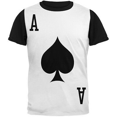Halloween Ace of Spades Card Soldier Costume Adult Black Back T-Shirt](Halloween Shirts Adults)